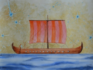 Bateau traditionnel N°4, Drakar Viking