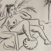 OmorO - Atelier avec Luis Pannier à l'Impératrice - 2017 - Dessin - 29 x 40 cm