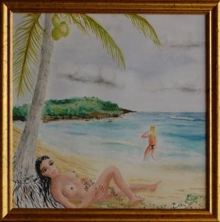 06 - 2010q18-cadre - Deux filles à la plage