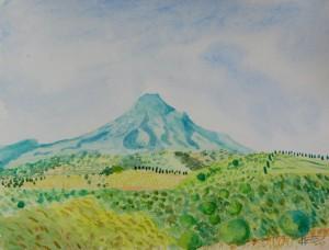 La montagne qui surgit de Terre