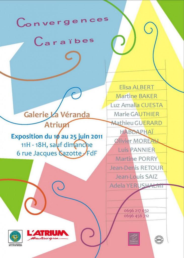 Affiche Expo Convergences Caraïbes