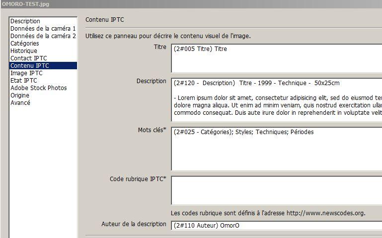 IPTC - Photoshop 1