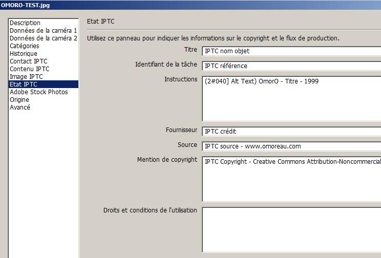 IPTC - Photoshop 2
