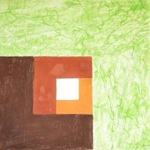 OmorO - PréhistoImmo - 2016 - Pigments naturels sur papier - 55 x 65 cm