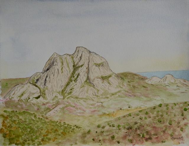 OmorO - 2016 - Monte Genova - Aquarelle - 32 x 24 cm