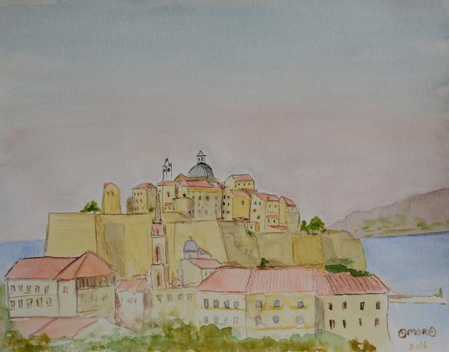 OmorO - 2016 - Citadelle de Calvi - Aquarelle - 32 x 24 cm