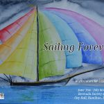 """OmorO celebrates the beauty of The America's Cup in Bermuda with his Art Show """"Sailing Forever""""."""