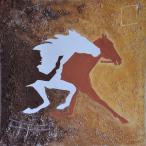 OmorO - 3animal-eternel - 2016 - Pigments naturels sur papier - 24x24 cm