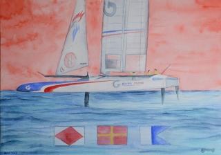 OmorO - AC35BDA FRA -  2017 - Aquarelle sur papier - 51 x 36 cm