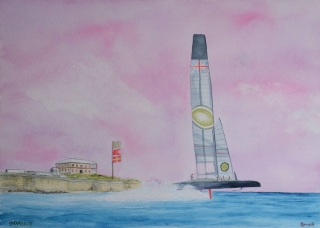 OmorO - AC35BDA GBR -  2017 - Aquarelle sur papier - 51 x 36 cm