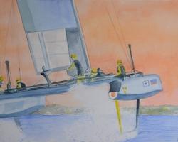 OmorO - AC35BDA SE -  2017 - Aquarelle sur papier - 51 x 36 cm